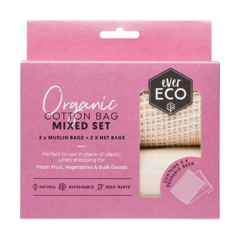 Ever Eco Organic Cotton Produce Bags Mixed