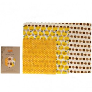 Queen B Beeswax Wraps Assorted Sizes- Coloured