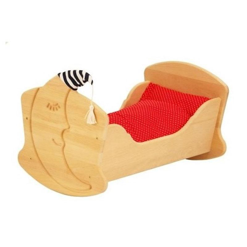 Drewart Doll Cradle with Bedding