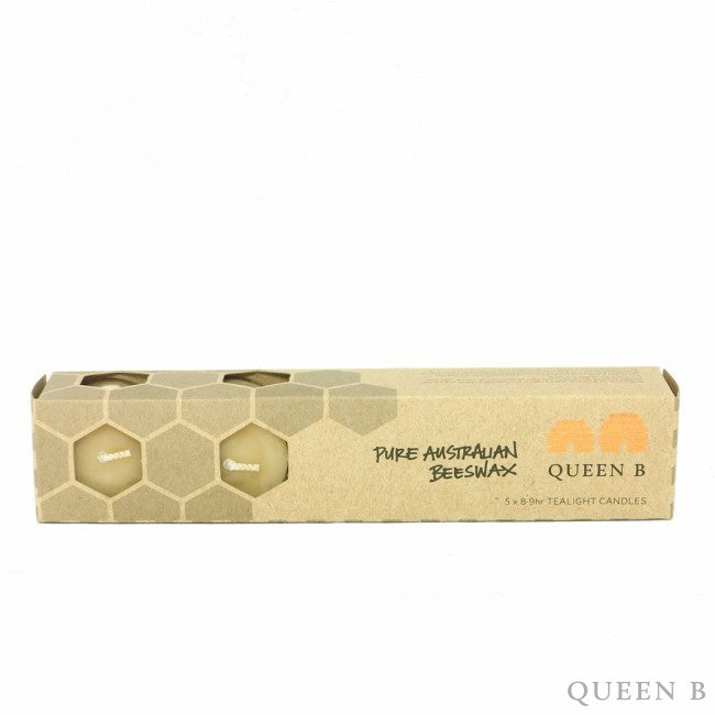 Queen B Tealight Candles (8-9hr) x5