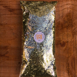 Gold Chunky Eco Glitter 100g Bag