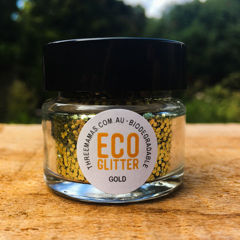 Gold Chunky Eco Glitter Jar Large