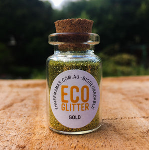 Gold Fine Eco Glitter Jar Small
