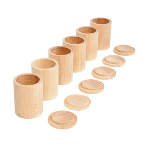 Grapat Six Natural Cups With Lids