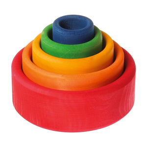 Grimm's Rainbow Stacking Bowls-Red