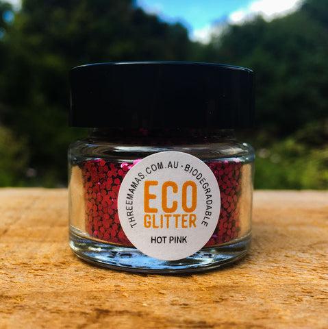 Hot Pink Chunky Eco Glitter Jar Large