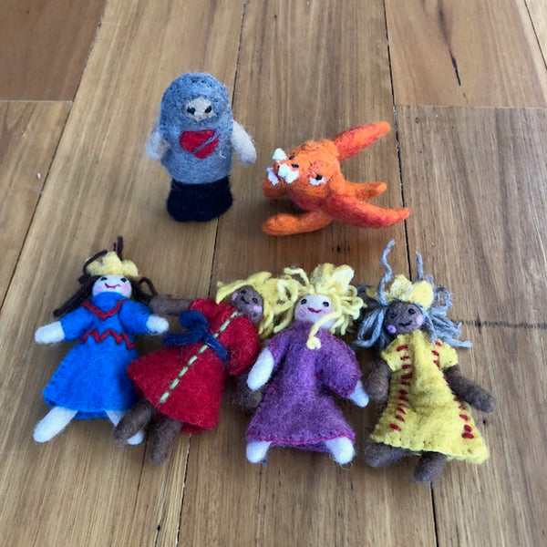 Felted King/Queen Set