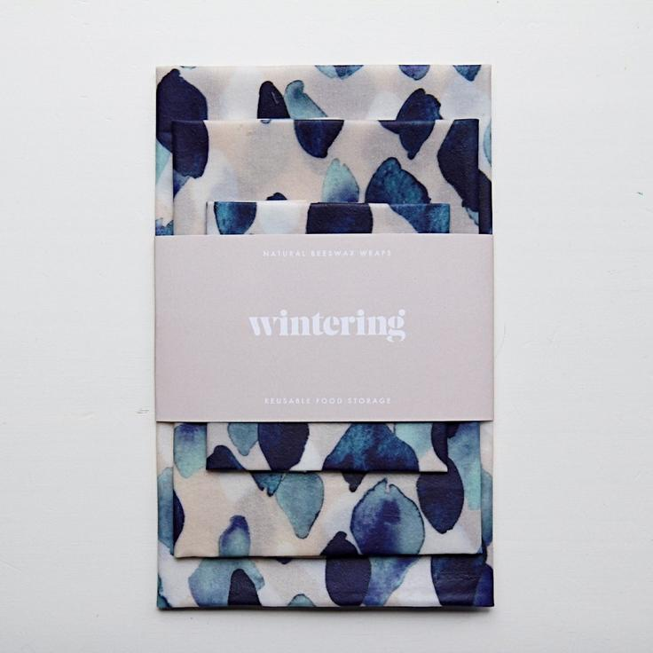 Wintering Natural Bees Wax Wraps Indigo Rain Variety Pack