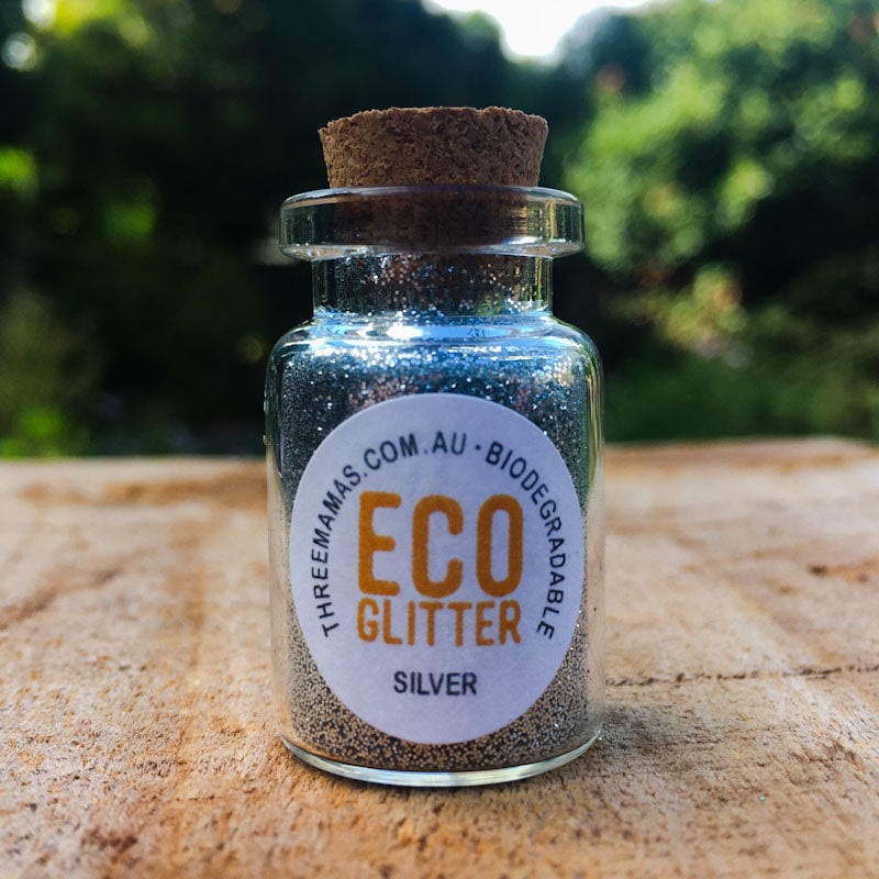 Silver Fine Eco Glitter Jar Small