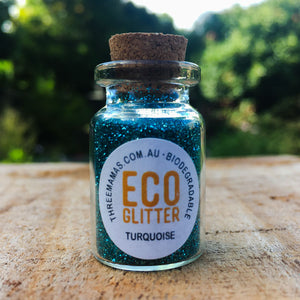 Turquoise Fine Eco Glitter Jar Small
