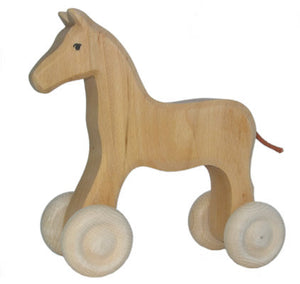 Grimm's Wooden Large Horse on Wheels
