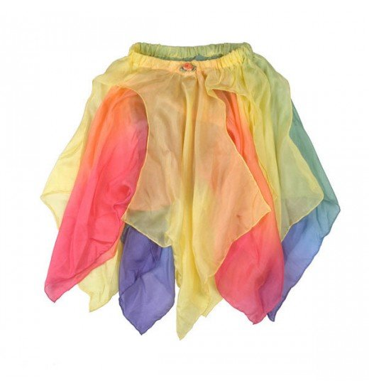 Sarah's Silks Fairy Skirt Rainbow Yellow 2-4 Yrs