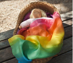 Sarah's Silks Rainbow Doll Blanket