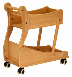 Drewart Wooden Shopping Trolley