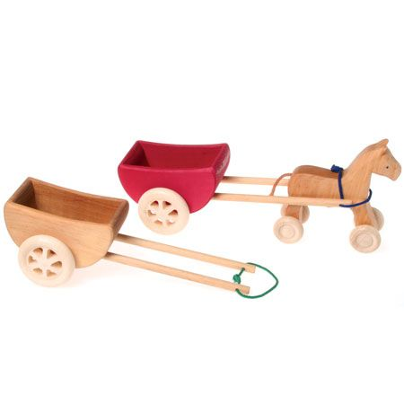 Grimm's Wooden Large Cart-Red