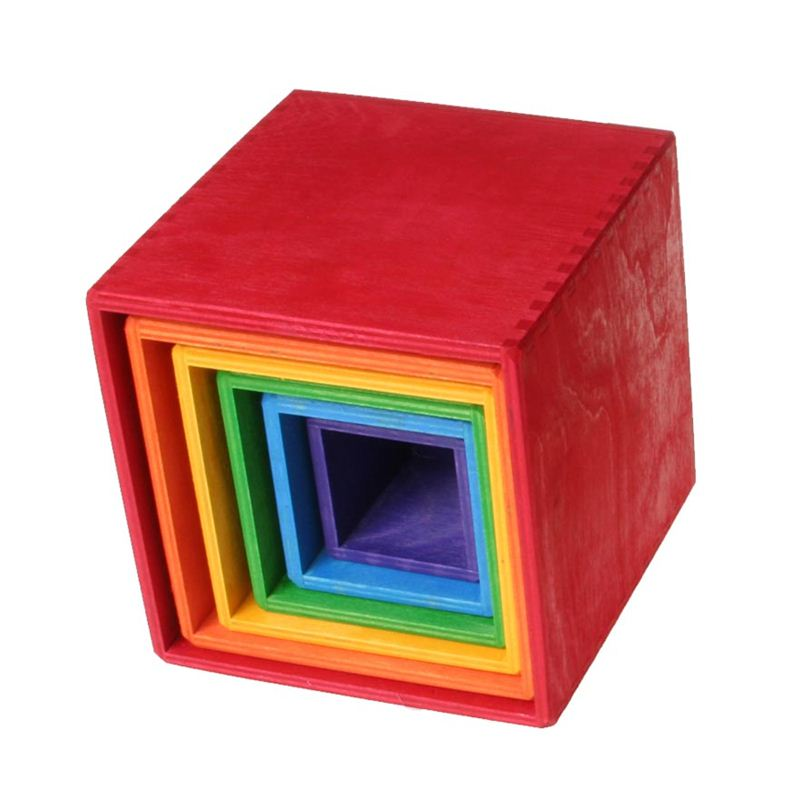 Grimm's Rainbow Stacking Boxes Large