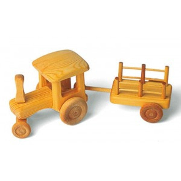Big Natural Tractor & Cart