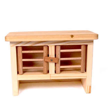 Drei Blatter Wooden Rabbit Hutch