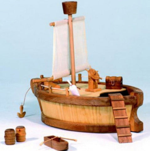 Kinderkram Boat Body with Sail, Mast & Lookout