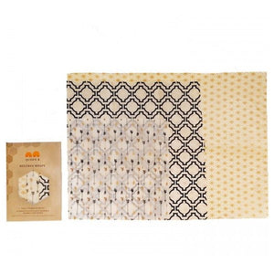 Queen B Beeswax Wraps Assorted Sizes- Neutral Colours