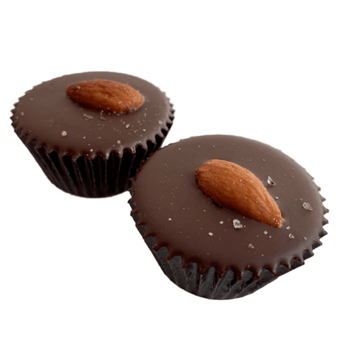 Wholesale Almond Butter Cups 2pk 1.8 oz each Case of 10 - Tia Coco Healthy Chocolate