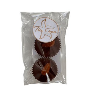 Almond Butter Cups 2pk - Tia Coco Healthy Chocolate