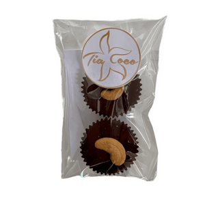 Wholesale Cashew Butter Cups 2pk 1.8 oz each Case of 10 - Tia Coco Healthy Chocolate