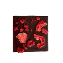 Load image into Gallery viewer, Raspberry Strawberry Half Chocolate Bars 2pk - Tia Coco Healthy Chocolate
