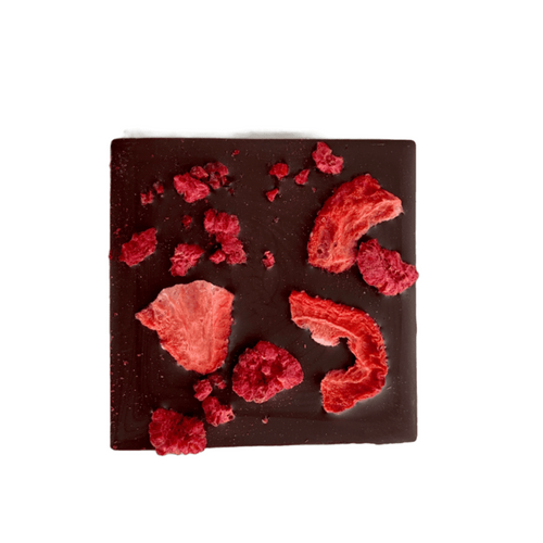 Raspberry Strawberry Half Chocolate Bars 2pk - Tia Coco Healthy Chocolate