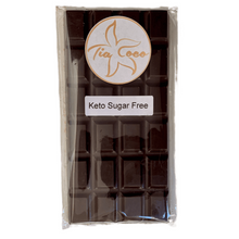 Load image into Gallery viewer, KETO Sugar Free Pure Dark Chocolate Bars - Tia Coco Healthy Chocolate