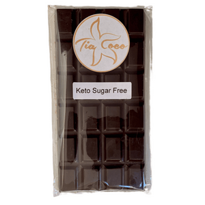 KETO Sugar Free Pure Dark Chocolate Bars - Tia Coco Healthy Chocolate