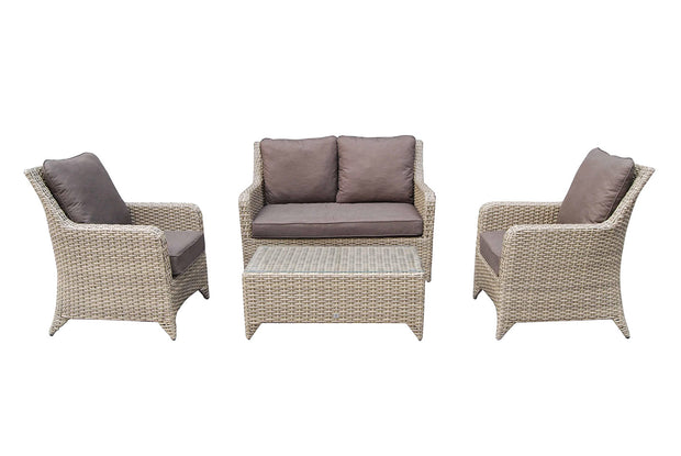 Sarah 4 Seater Sofa Set in Nature Weave