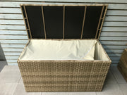 Large Cushion Box in 3 Wicker Caramel Ceave