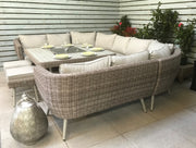 Danielle U shape Garden  Sofa with Fire Pit