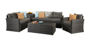 Michelle Five Piece Sofa Set in Mixed Grey Steel Frame