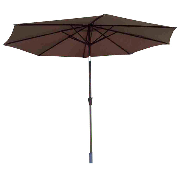 2.5m Table Parasol with Tilt in Chocolate
