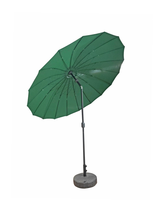 2.7M Dia Shanghai Parasol with Green Canopy