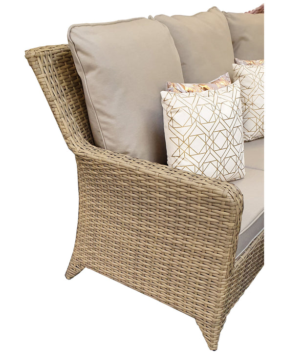 Sarah Corner Dining Sofa Set Nature Weave