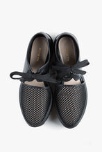Load image into Gallery viewer, AMAZING FLATFORM SANDAL Black Mesh And Leather Lace-Up