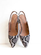 Load image into Gallery viewer, EXOTIC SLING Snakeskin Embossed Leather Slingback