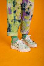 Load image into Gallery viewer, RHONDA Green Tie Dye Sneakers