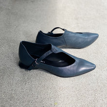 Load image into Gallery viewer, KOKO yuko imanishi Airforce Blue Leather Shoe