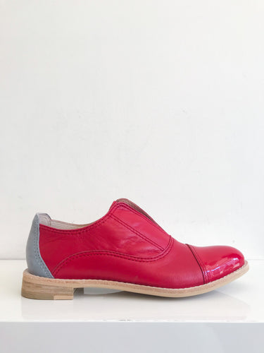 CRIMSON Red Leather Oxford