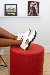 YVETTE White Leather And Pony Hair Sneakers