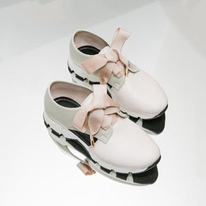 LORI Cream Leather Sneaker