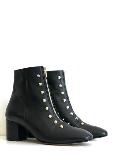 GIG Black Gunmetal Ankle Boot