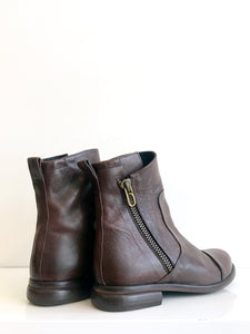 P-1170 BROWN Leather Ankle Boot