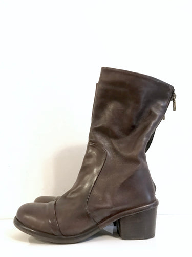 P-1276 Brown Leather Ankle Boot