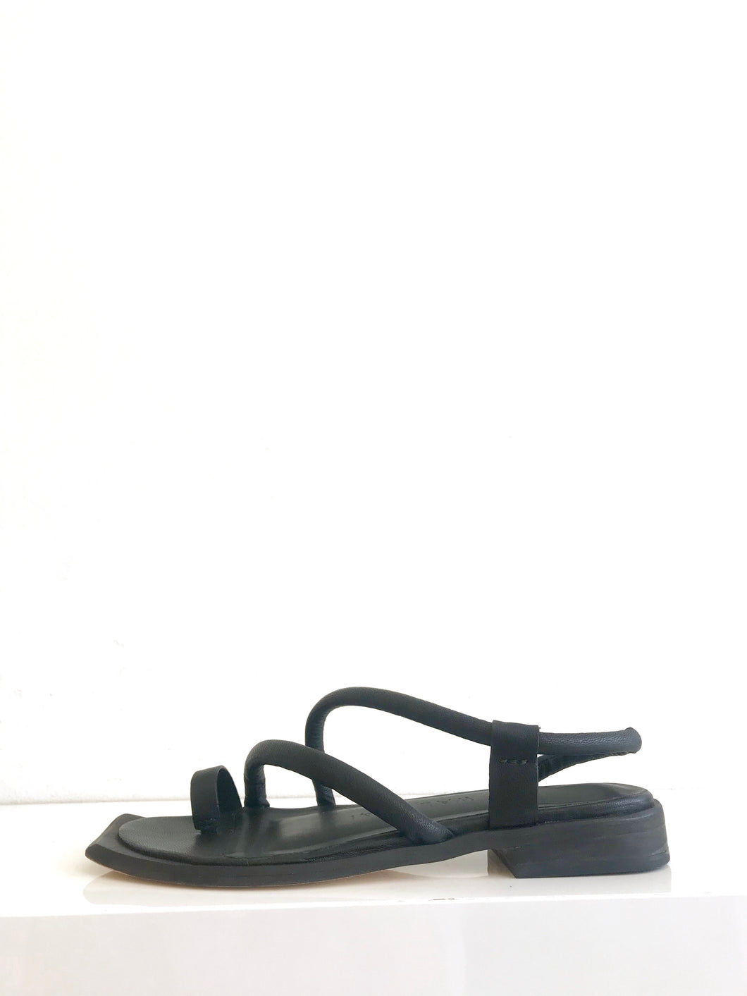 ROCCA Black Flat Slip-on Sandal