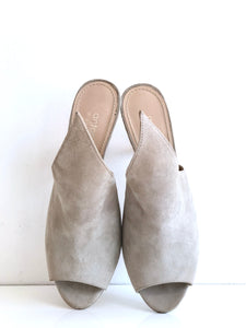 7233 GREY - Sexy high heel peep-toe mule